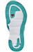Salomon RX Break - Sandalias Mujer - blanco/Turquesa